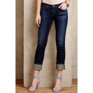 AG sz32 The Stevie Cuff slim straight cuffed jeans
